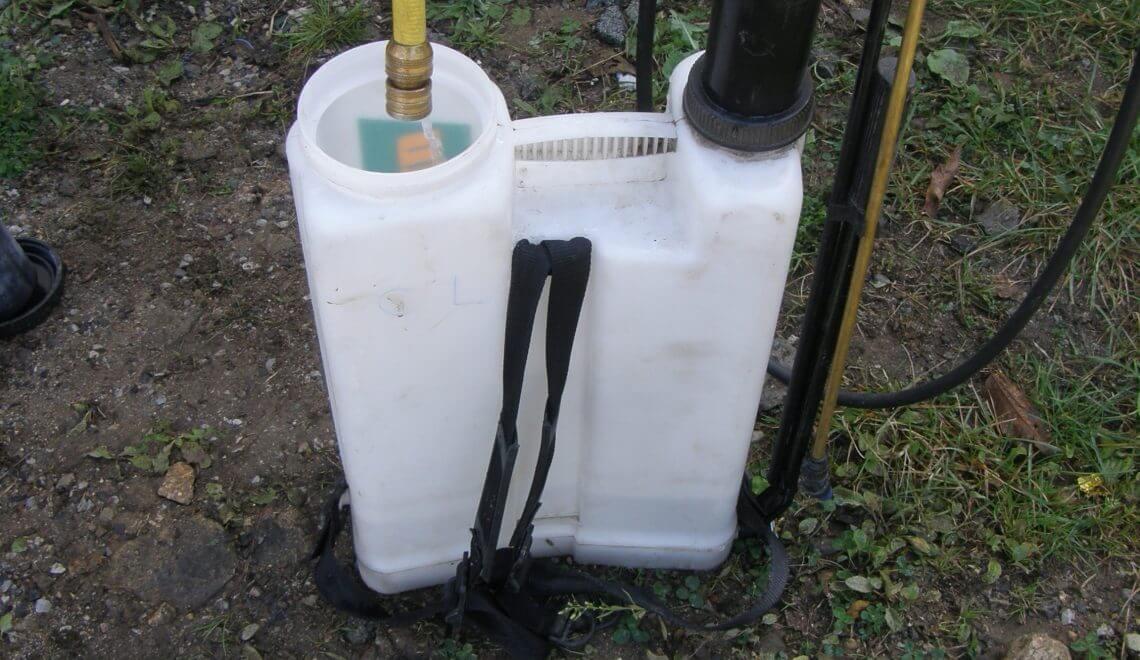 bien nettoyer le pulvérisateur après toute application